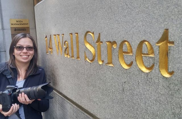 Liz Henson photographer on Wall Street
